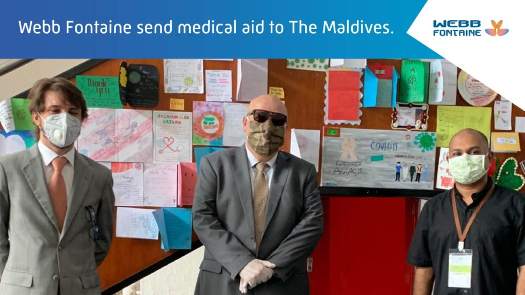 Combating Coronavirus: Webb Fontaine sends Medical Aid to the Maldives